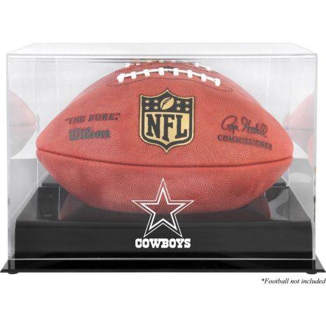 Dallas Cowboys Fanatics Authentic Black Base Football Logo Display Case with Mirror Back